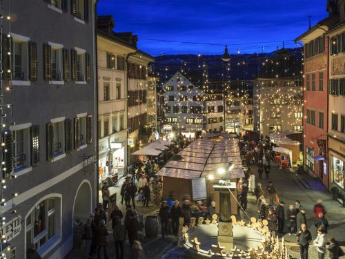 Rapperswil Jona At Christmas, Switzerland