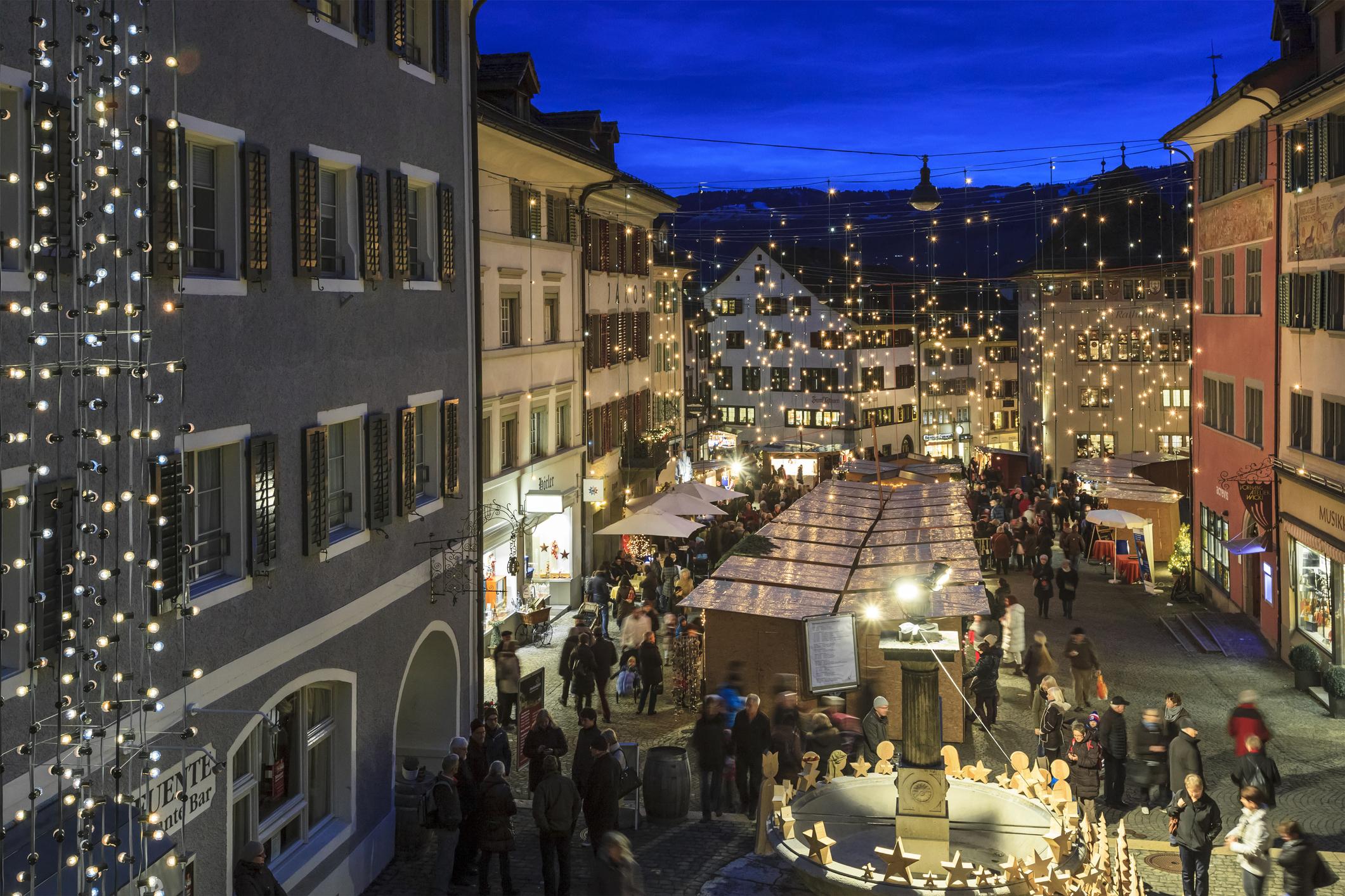 Rapperswil Jona At Christmas, Switzerland