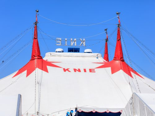 Tents Of Circus Knie In Zurich, Switzerland